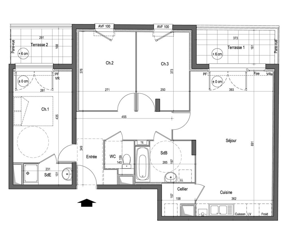 Master Bedroom With Balcony Plan
